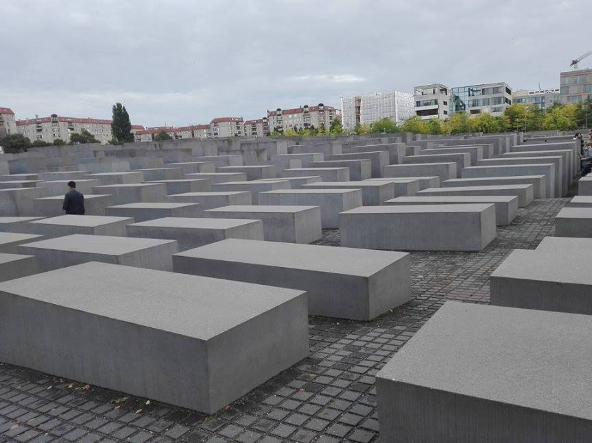 Walking through the Holocaust Memorial by Noorjahan Jemaa