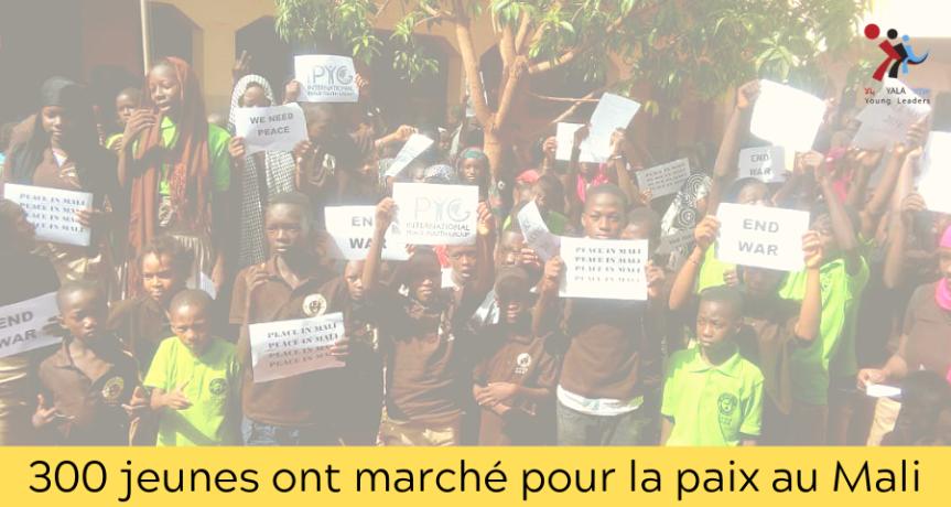 300 jeunes ont marché pour la paix auMali
